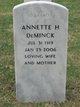 Profile photo:  Annette H <I>Greenfield</I> Deminck