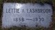 "Profile photo:  Letta Amelia ""Lettie"" <I>Clifford</I> Lashbrook"