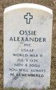 Ossie Alexander