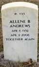Profile photo:  Allene Bryson Andrews