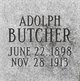 Profile photo:  Adolph Butcher
