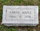 Profile photo:  Aaron A Maple