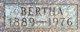 Bertha Othilda <I>Sorum</I> Gilbertson