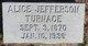 Profile photo:  Alice Elizabeth <I>Jefferson</I> Turnage