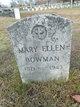 Mary Ellen <I>Clarkson</I> Bowman
