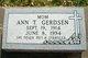 Ann <I>Trahan</I> Gerdsen