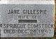 Profile photo:  Jane <I>Gillespie</I> Comstock