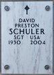 Profile photo:  David Preston Schuler