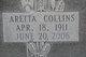 Profile photo:  Aretta <I>Collins</I> Attkisson