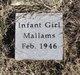 Profile photo:  Infant Girl Mallams