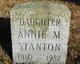 Profile photo:  Annie May Stanton