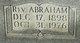 Profile photo: Rev Abraham S. Berry