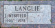 Profile photo:  J. Winfield Langlie