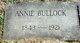 "Profile photo:  Anna Robert ""Annie"" <I>Bullock</I> Sneed"