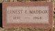 Ernest Eugene Maddox