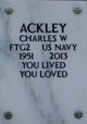 Profile photo:  Charles William Ackley