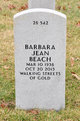 Profile photo:  Barbara Jean Beach