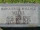 Marguerite <I>Wallace</I> Meeks