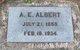 Profile photo:  Abraham Edwin Albert