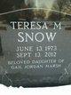 Sgt Maj Teresa M <I>Pierce</I> Snow