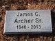 Profile photo:  James Carl Archer, Sr