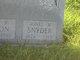 Agnes <I>Mason</I> Snyder