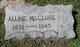 Profile photo:  Alline <I>Miller</I> McClure