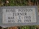 """Rosie """"Mytr"""" <I>Poston</I> Turner"""