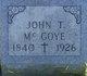 Profile photo:  John T. McGoye
