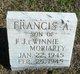 Profile photo:  Francis Allen Moriarty