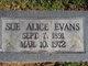 Sue Alice Evans