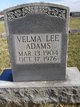 Velma Lee Adams