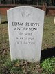 Edna <I>Purvis</I> Anderson