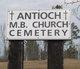 Antioch M.B. Church Cemetery African American