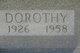 "Profile photo:  Dorothy ""Dot"" <I>Norman</I> Adams"