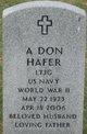Profile photo:  A Don Hafer