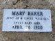 Profile photo:  Mary Josephine Baker