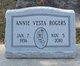 Profile photo:  Annie Vesta Rogers