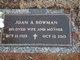 Joan A <I>Miller</I> Bowman