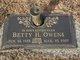 "Profile photo:  Betty Sue ""Bunt"" <I>Hardin</I> Owens"
