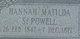 Hannah Matilda <I>Snyder</I> Powell