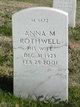 Profile photo:  Anna M Rothwell