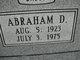 Profile photo:  Abraham D. Batts