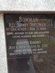 """Rev Sidney Sheltman """"Sid"""" Bowman"""