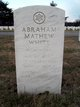 Profile photo:  Abraham Mathew White