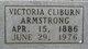 Victoria Jane <I>Cliburn</I> Armstrong
