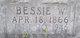 Bessie <I>Washington</I> Edwards