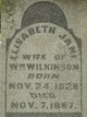 Elizabeth Jane <I>Lovelace</I> Wilkinson