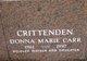 Profile photo:  Donna Marie <I>Carr</I> Crittenden