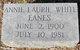 Annie Laurie <I>White</I> Eanes